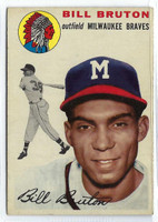 1954 Topps Baseball 109 Bill Bruton