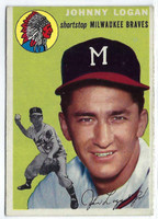 1954 Topps Baseball 122 Johnny Logan