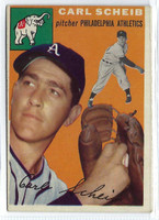 1954 Topps Baseball 118 Carl Scheib