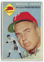 1954 Topps Baseball 41 Willie Jones
