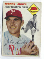 1954 Topps Baseball 51 Johnny Lindell Tough Series