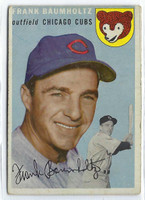 1954 Topps Baseball 60 Frank Baumholtz Tough Series