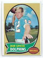 1970 Topps Football 10 Bob Griese Miami Dolphins Very Good