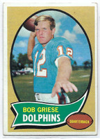 1970 Topps Football 10 Bob Griese Miami Dolphins Very Good to Excellent