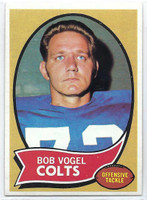 1970 Topps Football 15 Bob Vogel Baltimore Colts Near-Mint to Mint