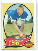 1970 Topps Football 11 Ed Flanagan Detroit Lions Excellent to Mint