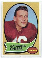 1970 Topps Football 1 Len Dawson Kansas City Chiefs Excellent to Excellent Plus