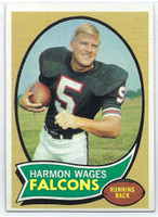 1970 Topps Football 5 Harmon Wages Atlanta Falcons Excellent to Excellent Plus