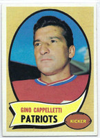 1970 Topps Football 7 Gino Cappelletti Boston Patriots Excellent to Excellent Plus