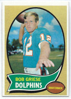 1970 Topps Football 10 Bob Griese Miami Dolphins Excellent to Excellent Plus