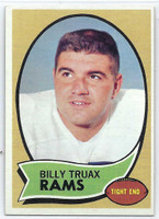 1970 Topps Football 18 Billy Truax Los Angeles Rams Excellent to Excellent Plus