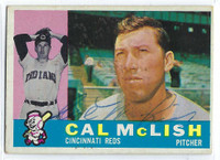 Cal McLish AUTOGRAPH d.10 1960 Topps #110 Reds CARD IS G/VG; WAX STAIN  [SKU:McLiC712_T60BBAP]