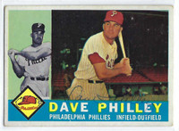 Dave Philley AUTOGRAPH d.12 1960 Topps #52 Phillies CARD IS VG; AUTO CLEAN  [SKU:PhilD163_T60BBAP]