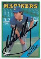 Mike Morgan AUTOGRAPH 1988 Topps #32 Mariners 