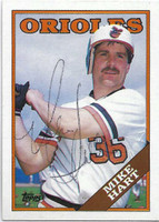 Mike Hart AUTOGRAPH 1988 Topps #69 Orioles   [SKU:HartM9954_T88BBrs]