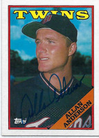 Allan Anderson AUTOGRAPH 1988 Topps #101 Twins   [SKU:AndeA10208_T88BBrs]