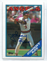 Johnny Ray AUTOGRAPH 1988 Topps #115 Angels   [SKU:RayJ6912_T88BBrs]