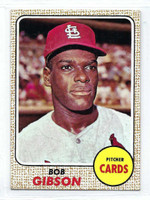 1968 Topps Baseball 100 Bob Gibson  [SKU:Y68_T68BB_100a_5exrs]  St. Louis Cardinals Excellent