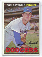 1967 Topps Baseball 55 Don Drysdale