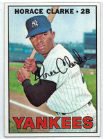1967 Topps Baseball 169 Horace Clarke  [SKU:Y67_T67BB_169a_6exmrs]  New York Yankees Excellent to Mint