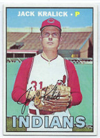 1967 Topps Baseball 316 Jack Kralick  [SKU:Y67_T67BB_316a_6exmrs]  Cleveland Indians Excellent to Mint