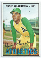 1967 Topps Baseball 344 Ossie Chavarria  [SKU:Y67_T67BB_344a_6exmrs]  Kansas City Athletics Excellent to Mint