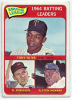 1965 Topps Baseball 1 AL Batting Leaders