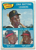 1965 Topps Baseball 2 NL Batting Leaders