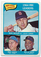 1965 Topps Baseball 6 NL RBI Leaders  [SKU:Y65_T65BB_006a_5exrs]  Excellent