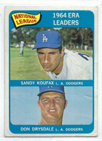 1965 Topps Baseball 8 NL ERA Leaders