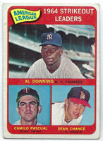 1965 Topps Baseball 11 AL Strikeout Leaders  [SKU:Y65_T65BB_011a_2gvgrs]  Good to Very Good