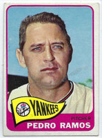 1965 Topps Baseball 13 Pedro Ramos  [SKU:Y65_T65BB_013a_4vgers]  New York Yankees Very Good to Excellent
