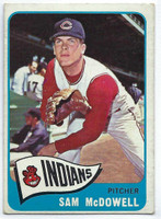 1965 Topps Baseball 76 Sam McDowell  [SKU:Y65_T65BB_076a_2gvgrs]  Cleveland Indians Good to Very Good