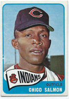 1965 Topps Baseball 105 Chico Salmon  [SKU:Y65_T65BB_105a_5exrs]  Cleveland Indians Excellent