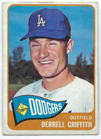 1965 Topps Baseball 112 Derrell Griffith  [SKU:Y65_T65BB_112a_3vgrs]  Los Angeles Dodgers Very Good