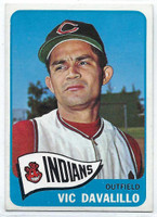 1965 Topps Baseball 128 Vic Davalillo  [SKU:Y65_T65BB_128a_2gvgrs]  Cleveland Indians Good to Very Good