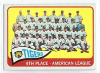 1965 Topps Baseball 173 Tigers Team  [SKU:Y65_T65BB_173a_5exrs]  Excellent