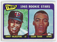 1965 Topps Baseball 201 Twins Rookies  [SKU:Y65_T65BB_201a_4vgers]  Very Good to Excellent