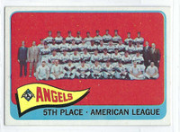 1965 Topps Baseball 293 Angels Team  [SKU:Y65_T65BB_293a_5exprs]  Excellent to Excellent Plus