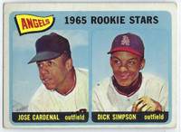 1965 Topps Baseball 374 Angels Rookies High Number  [SKU:Y65_T65BB_374a_3vgrs]  Very Good
