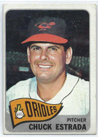 1965 Topps Baseball 378 Chuck Estrada High Number