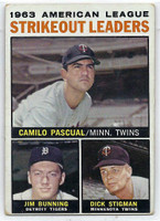 1964 Topps Baseball 6 AL Strikeout Leaders  [SKU:Y64_T64BB_006a_2gvgrs]  Good to Very Good