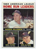 1964 Topps Baseball 10 AL HR Leaders  [SKU:Y64_T64BB_010a_4vgers]  Very Good to Excellent