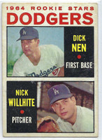 1964 Topps Baseball 14 Dodgers Rookies  [SKU:Y64_T64BB_014a_2gvgrs]  Good to Very Good