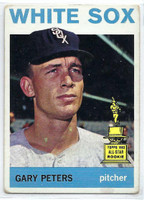1964 Topps Baseball 130 Gary Peters  [SKU:Y64_T64BB_130a_2gvgrs]  Chicago White Sox Good to Very Good