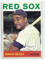 1964 Topps Baseball 186 Roman Mejias  [SKU:Y64_T64BB_186a_5exrs]  Boston Red Sox Excellent