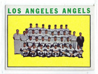 1964 Topps Baseball 213 Angels Team  [SKU:Y64_T64BB_213a_5exrs]  Excellent