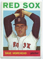 1964 Topps Baseball 376 Dave Morehead  [SKU:Y64_T64BB_376a_4vgers]  Boston Red Sox Very Good to Excellent