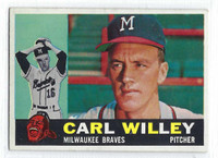 1960 Topps Baseball 107 Carl Willey  [SKU:Y60_T60BB_107a_5exrs]  Milwaukee Braves Excellent