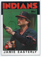 Jamie Easterly AUTOGRAPH 1986 Topps #31 Indians   [SKU:EastJ6433_T86BBrs]